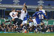 Everton forward Arouna Kone  misses the target during the Barclays Premier League match between Everton and Tottenham Hotspur at Goodison Park, Liverpool, England on 3 January 2016. Photo by Simon Davies.