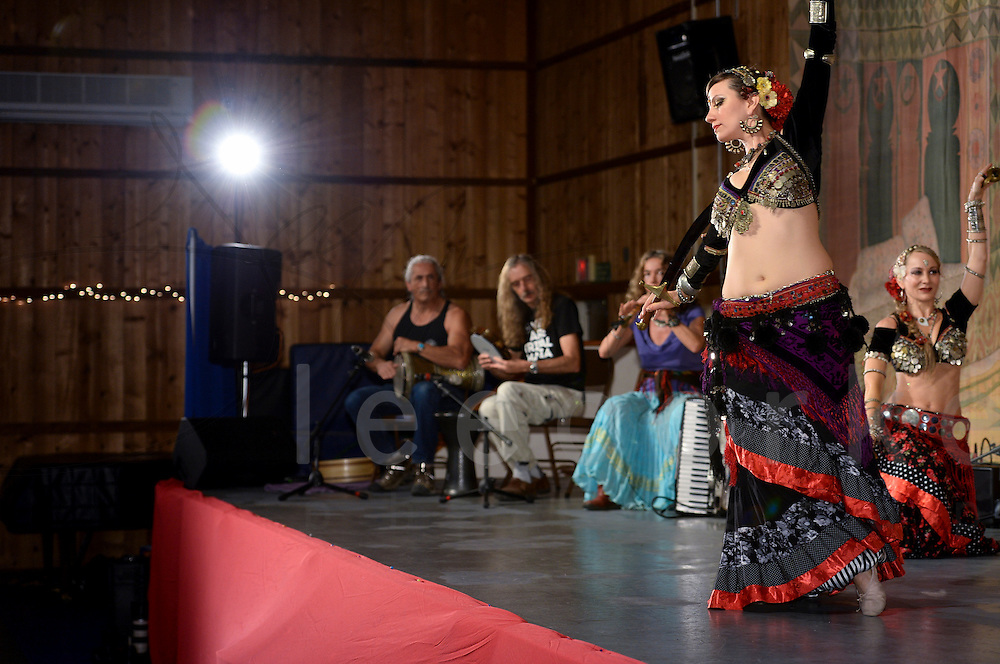 A dance performance at Tribal Fest 2015  in Sebastopol California