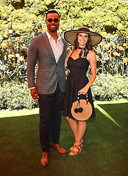 10th annual Veuve Clicquot Polo Classic. 05 Oct 2019 Pictured: Isaiah Mustafa, Lisa Mustafa. Photo credit: MEGA TheMegaAgency.com +1 888 505 6342