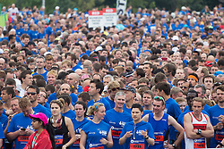 © licensed to London News Pictures. London, UK 21/07/2013. 12,500 runners attending The National Lottery Anniversary Run at Queen Elizabeth Olympic Park on Sunday, 21 July 2013. The Stadium at Queen Elizabeth Olympic Park open its doors to the public for the first time since London 2012. Photo credit: Tolga Akmen/LNP