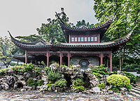 pagoda temple Kowloon Walled City Park in Hong Kong
