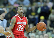 January 07, 2011: Ohio State Buckeyes guard Lenzelle Smith Jr. (32) brings the ball down court during the the NCAA basketball game between the Ohio State Buckeyes and the Iowa Hawkeyes at Carver-Hawkeye Arena in Iowa City, Iowa on Saturday, January 7, 2012.