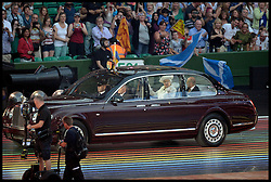 Image licensed to i-Images Picture Agency. 23/07/2014. Glasgow, United Kingdom. The Queen with The Duke of Edinburgh during the opening ceremony of  the Commonwealth Games in Glasgow.. Picture by Andrew Parsons / i-Images