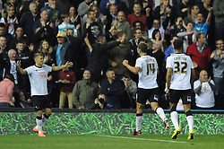 Derby County's Jamie Ward celebrates with Derby County's John Eustace - Photo mandatory by-line: Dougie Allward/JMP - Mobile: 07966 386802 - 30/09/2014 - SPORT - Football - Derby - Pride Park - Derby County v AFC Bournemouth - Sky Bet Championship