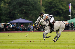 La Indiana's Facundo Pieres scoring the winning goal the Cartier Queen's Cup final at Guards Polo Club, Windsor Great Park, Surrey.