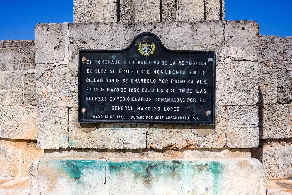 Cuban Flag Monument in Cardenas, Matanzas, Cuba.