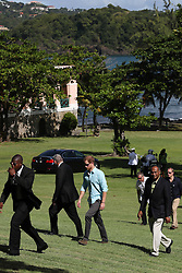 Prince Harry attends a conversation projects exhibition, where he will unveil a plaque designating the Castries Water Works Reserve and surrounding rainforest as St Lucia's contribution to The Queen's Commonwealth Canopy Project, on the island of St Lucia during the second leg of his Caribbean tour.