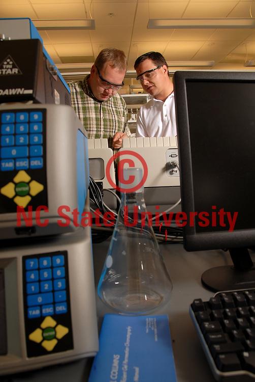 Jan Genzer works with an engineering colleague Dr.KirillEfimenko.