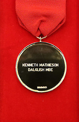A medal which will be given to former Liverpool manager Kenny Dalglish at Liverpool Town Hall, when he and the families of the 96 victims of the Hillsborough disaster receive the Freedom of the City tomorrow.