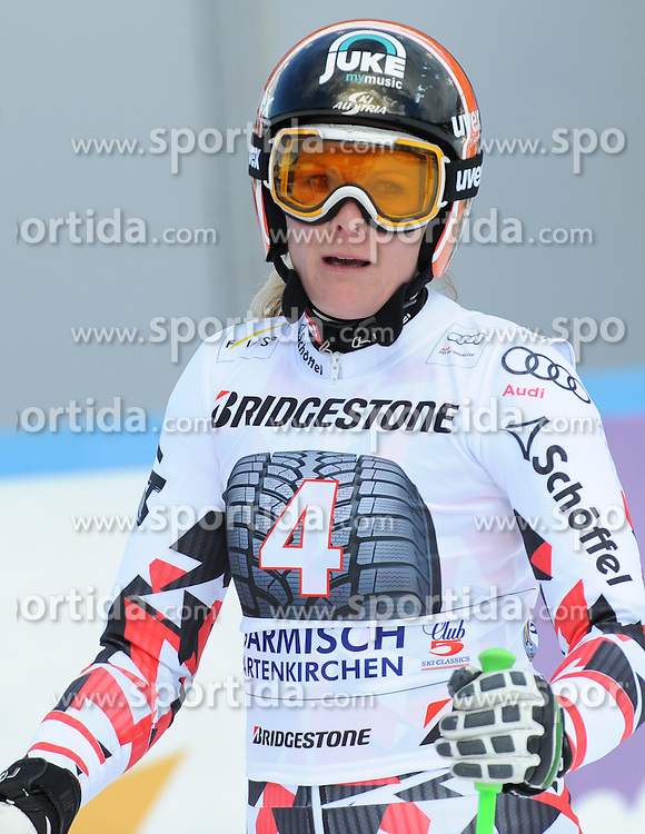 06.03.2015, Kandahar, Garmisch Partenkirchen, GER, FIS Weltcup Ski Alpin, Abfahrt, Damen, 1. Trainingslauf, im Bild Nicole Hosp (AUT) // Nicole Hosp of Austria during 1st training run for the ladie's Downhill of the FIS Ski Alpine World Cup at the Kandahar course, Garmisch Partenkirchen, Germany on 2015/03/06. EXPA Pictures © 2015, PhotoCredit: EXPA/ Erich Spiess