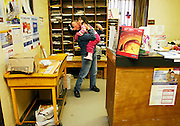 URANIUM CITY, SK - 17/10/08 - A hug at the post office in Uranium City Saskatchewan.