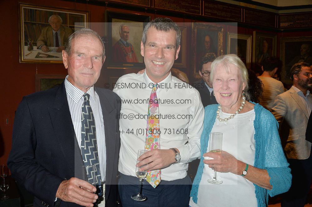 Left o right, DAVID PENTREATH, BEN PENTREATH and JUDITH PENTREATH at a party to celebrate the publication of English Houses by Ben Pentreath held at the Art Worker's Guild, 6 Queen Square, London on 28th September 2016.