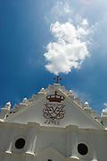 HOLY SMOKE. New Jerusalem Church. Restored church in the old Danish colony of Tranqubar (Tarangambadi) on the East Coast of South India.