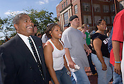 17074Freshman Convocation march 9/05/05..Cristyna Rogers, Steven P. Collien & others