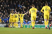 Barry McKay of Fleetwood celebrates the opening goal (0-1) during the EFL Sky Bet League 1 match between Portsmouth and Fleetwood Town at Fratton Park, Portsmouth, England on 10 March 2020.