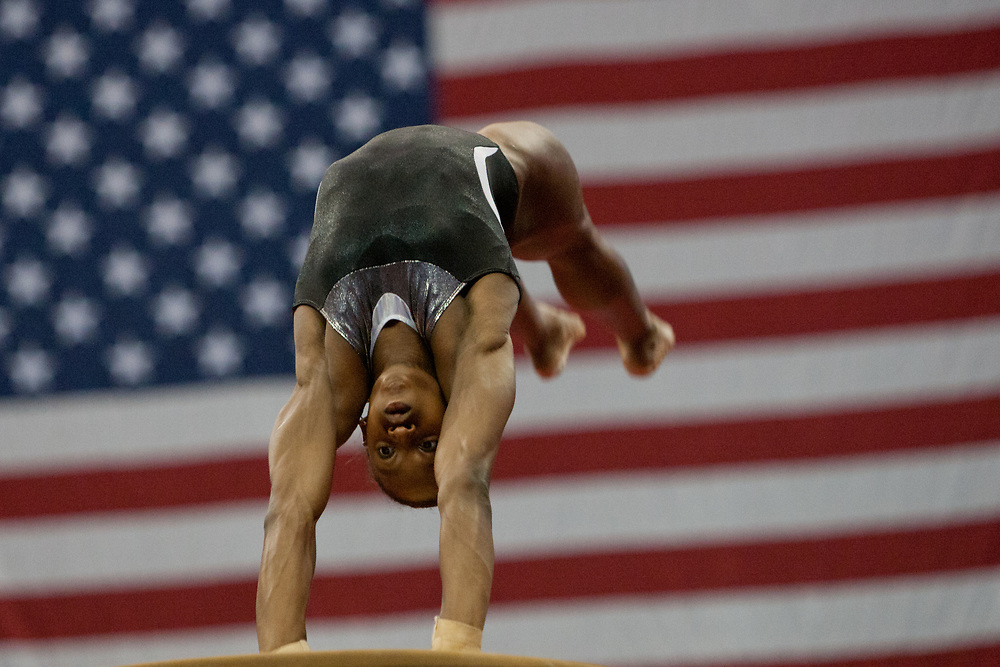 USA Gymnastics GK Classic - Schottenstein Center, Columbus, OH - July 28th, 2018. Simone Biles  competes in the beam  at the Schottenstein Center in Columbus, OH; in the USA Gymnastics GK Classic in the senior division. - Photo by Wally Nell/ZUMA Press