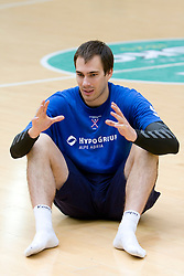 Jure Natek at practice of Slovenian handball men national team before going to Israel, on October 27, 2008 in Lasko, Slovenia. (Photo by Vid Ponikvar / Sportal Images)