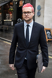 © Licensed to London News Pictures. 27/03/2018. London, UK. Christopher Wylie, the Cambridge Analytica whistleblower, arrives at Portcullis House to appear before a Select Committee. Cambridge Analytica has been implicated in an investigation into the misuse of Facebook user data to influence the electoral outcomes, including the Brexit referendum. Photo credit: Peter Macdiarmid/LNP