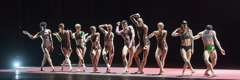 Members of Wayne McGregors Random Dance perform Atomos