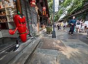 China, Sichuan. Chengdu. Kuan Zhai Alleys 宽窄巷子. Ninja Chili.