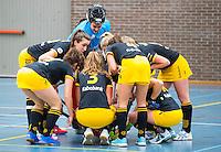 BARNEVELD - Hoofdklasse zaalhockey dames. Den Bosch-Rotterdam (1-0).  Team Den Bosch. COPYRIGHT KOEN SUYK