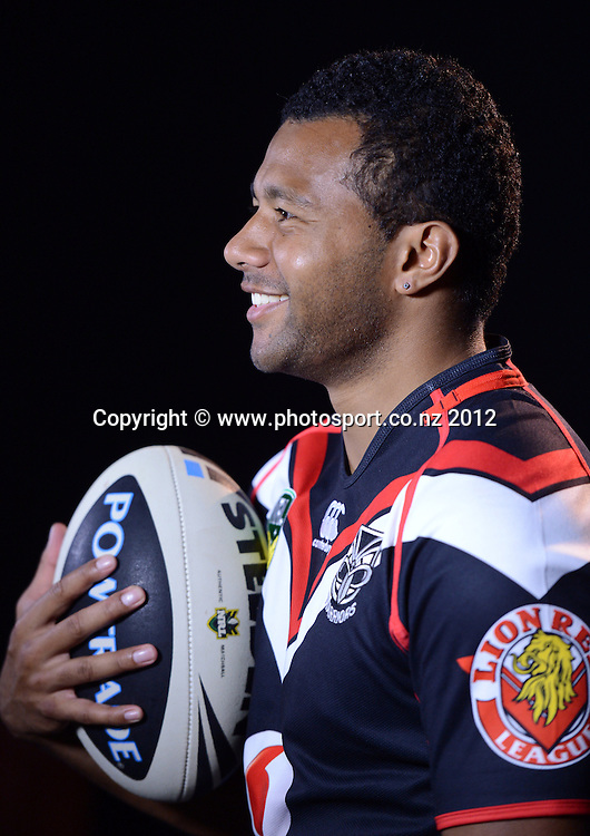 Alehana Mara, NRL Rugby League. Vodafone Warriors portrait session at Millennium Institute, Auckland, New Zealand on Wednesday 21 November 2012. Photo: Andrew Cornaga/photosport.co.nz