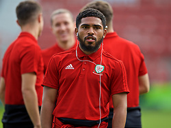 WREXHAM, WALES - Tuesday, September 10, 2019: Wales' Cole DaSilva on the pitch before the UEFA Under-21 Championship Italy 2019 Qualifying Group 9 match between Wales and Germany at the Racecourse Ground. (Pic by David Rawcliffe/Propaganda)