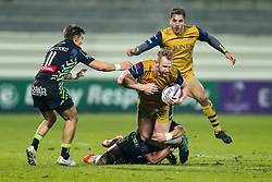 Will Hurrell of Bristol Rugby is tackled by Paddy Butler of Pau - Rogan Thomson/JMP - 16/12/2016 - RUGBY UNION - Stade du Hameau - Pau, France - Pau v Bristol Rugby - EPCR Challenge Cup.