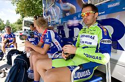 Gorazd Stangelj before start of the 4th stage of Tour de Slovenie 2009 from Sentjernej to Novo mesto, 153 km, on June 21 2009, Slovenia. (Photo by Vid Ponikvar / Sportida)