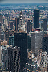 Looking Northeast Including the Chrysler Building, Manhattan, New York, US