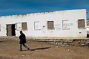 The former building of the RCD, sacked during the Revolution, was walled into a prison by Salafists and they locked several people here.<br /> Sejenane is an example of a Tunisian town that is in the grip of violent Salafis who rule here since April 2011.<br /> <br /> <br /> <br /> <br /> Sejenane est sous l'emprise des  Salafistes violents qui y font la loi et y ont installé un régime de terreur depuis avril 2011..L'ancien batiment du RCD, saccagé pendant la révolution, était muré transformé en prison par des Salafistes ou ils ont enfermé plusieurs personnes.