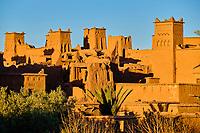 Maroc, Haut Atlas, Vallée du Dadès, Ksar d'Aït-Ben-Haddou, classé Patrimoine Mondial de l'UNESCO // Morocco, High Atlas, Dades Valley, Ksar of Ait-Ben-Haddou, classified World Heritage by UNESCO