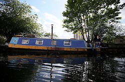 UK ENGLAND LONDON 3MAY16 - London Canal boat resident Mike Wells on his narrowboat near Homerton, east  London.<br /> <br /> jre/Photo by Jiri Rezac<br /> <br /> © Jiri Rezac 2016