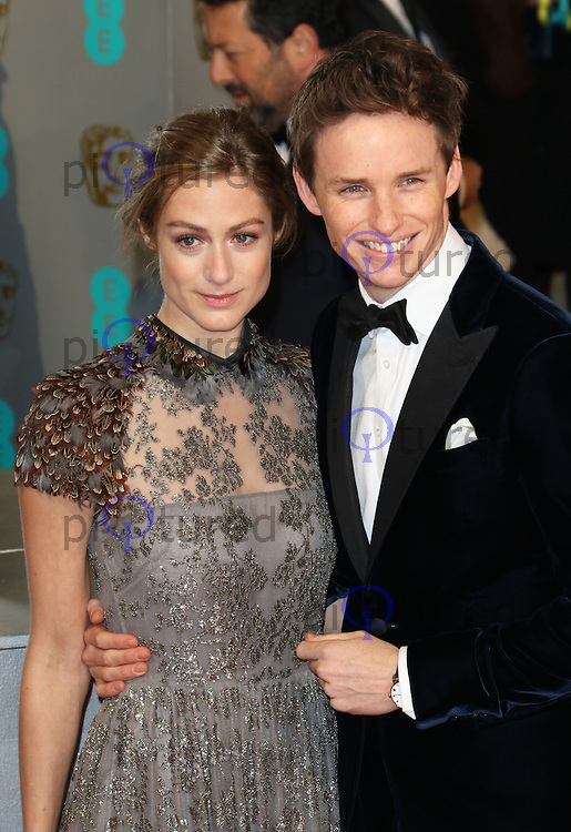 Hannah Bagshawe, Eddie Redmayne, EE British Academy Film Awards (BAFTAs), Royal Opera House Covent Garden, London UK, 08 February 2015, Photo by Richard Goldschmidt