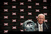 DALLAS, TX - JULY 22:  Kansas State head coach Bill Snyder speaks during the Big 12 Media Day on July 22, 2014 at the Omni Hotel in Dallas, Texas.  (Photo by Cooper Neill/Getty Images) *** Local Caption *** Bill Snyder
