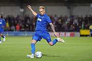 AFC Wimbledon midfielder Mitchell (Mitch) Pinnock (11) passing the ball during the Pre-Season Friendly match between AFC Wimbledon and Crystal Palace at the Cherry Red Records Stadium, Kingston, England on 30 July 2019.