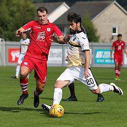 Dimitrios Froxylias  takes a shot during the Dumbarton v Connah's Quay Nomads Irn Bru cup second round 2 September 2017<br /> <br /> <br /> <br /> <br /> (c) Andy Scott | SportPix.org.uk