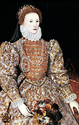 Elizabeth I (1533-1603) Queen of England and Ireland from 1558, last Tudor monarch. The Darnley portrait c1588, artist unknown.