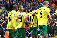 Picture by Paul Chesterton/Focus Images Ltd.  07904 640267.18/02/12.After missing from the penalty spot, Wes Hoolahan of Norwich puts in the rebound to scores his sides equalising goal and celebrates during the FA Cup Fifth Round match at Carrow Road stadium, Norwich.