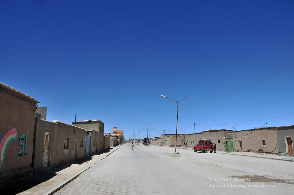 Uyuni city street, Uyuni, Potosi, Bolivia