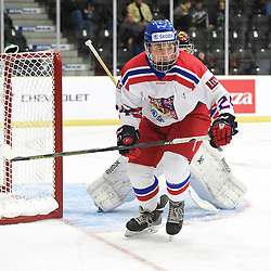COBOURG, - Dec 18, 2015 -  WJAC Game 11- Team Czech Republic vs Team Switzerland at the 2015 World Junior A Challenge at the Cobourg Community Centre, ON. Tomas Smerha #24 of Team Czech Republic pursues the play during the second period.<br /> (Photo: Andy Corneau / OJHL Images)