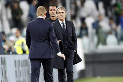 (l-r) coach Ronald Koeman of Holland. coach Gian Roberto Mancini of Italy during the International friendly match between Italy and The Netherlands at Allianz Stadium on June 04, 2018 in Turin, Italy