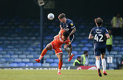 Rob Kiernan of Southend United wins a header - Mandatory by-line: Arron Gent/JMP - 30/03/2019 - FOOTBALL - Roots Hall - Southend-on-Sea, England - Southend United v Shrewsbury Town - Sky Bet League One