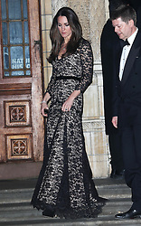 The Duchess of Cambridge leaving a screening of David Attenborough's Natural History Museum Alive 3D at the Natural History Museum in London, Wednesday, 11th December 2013. Picture by Stephen Lock / i-Images