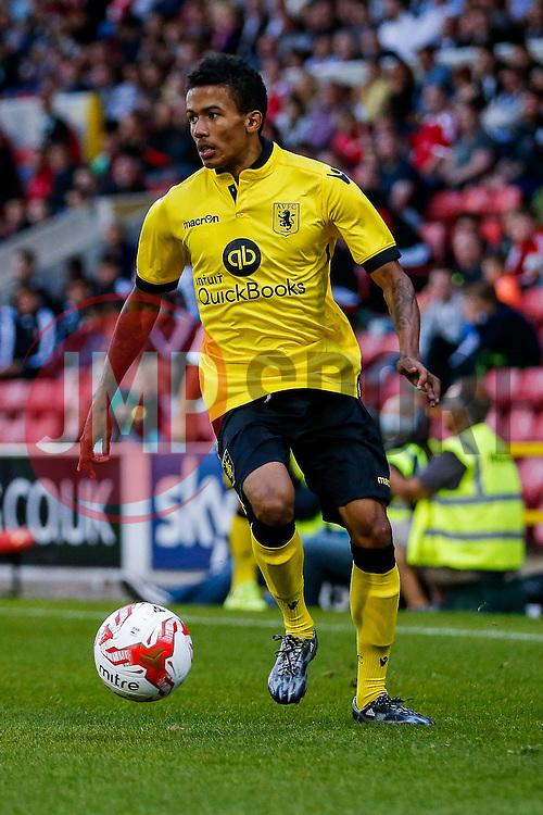 Jerell Sellars of Aston Villa in action - Mandatory byline: Rogan Thomson/JMP - 07966 386802 - 21/07/2015 - SPORT - Football - Swindon, England - The County Ground - Swindon Town v Aston Villa - 2015/16 Pre Season Friendly.