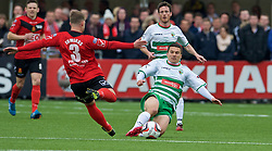 NEWTOWN, WALES - Saturday, May 2, 2015: The New Saints' Adrian Cieslewicz in action against Newtown during the FAW Welsh Cup final match at Latham Park. (Pic by Ian Cook/Propaganda)