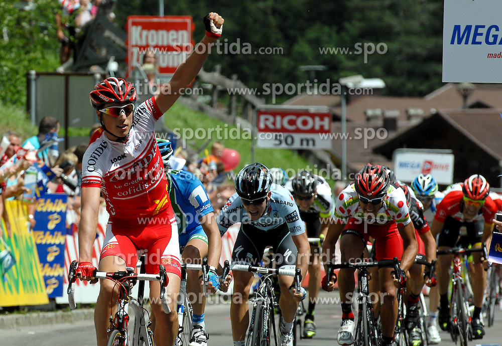 05.07.2011, AUT, 63. OESTERREICH RUNDFAHRT, 3. ETAPPE, KITZBUEHEL-PRAEGRATEN, im Bild Etappensieger Jens Keukeleire, (BEL, Cofidis) // during the 63rd Tour of Austria, Stage 3, 2011/07/05, EXPA Pictures © 2011, PhotoCredit: EXPA/ S. Zangrando