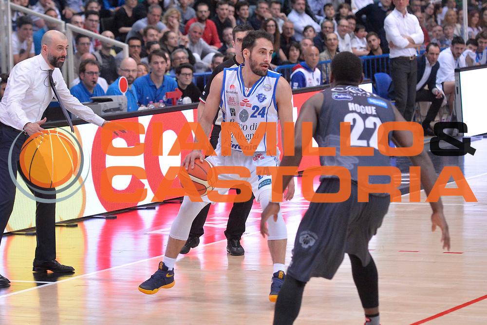 Rok Stipcevic<br /> Dolomiti Energia Aquila Basket Trento - Banco di Sardegna Dinamo Sassari<br /> Lega Basket Serie A 2016/2017<br /> Trento, 08/04/2017<br /> Foto Ciamillo - Castoria