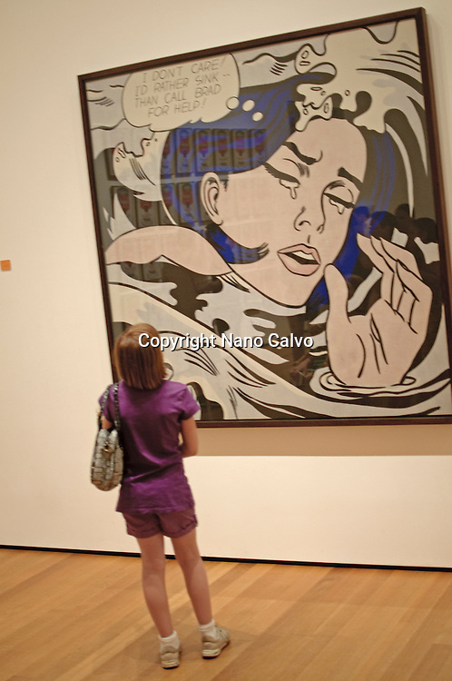Roy Lichtenstein work shown at The Museum of Modern Art (MoMA) is an art museum located in Midtown Manhattan in New York City, on 53rd Street, between Fifth and Sixth Avenues. It has been singularly important in developing and collecting modernist art, and is often identified as the most influential museum of modern art in the world