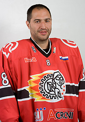 Andrej Troscinski at HK Acroni Jesenice Team roaster for 2009-2010 season,  on September 03, 2009, in Arena Podmezaklja, Jesenice, Slovenia.  (Photo by Vid Ponikvar / Sportida)